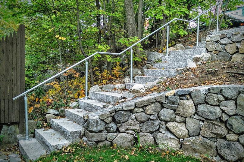 Stone Pathway Railing
