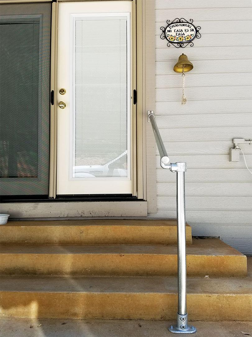 Stone Stairway Handrail