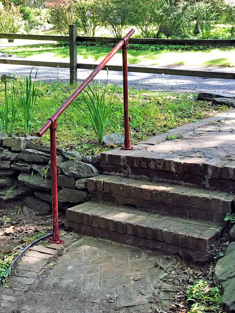 Stone Stairway Railing