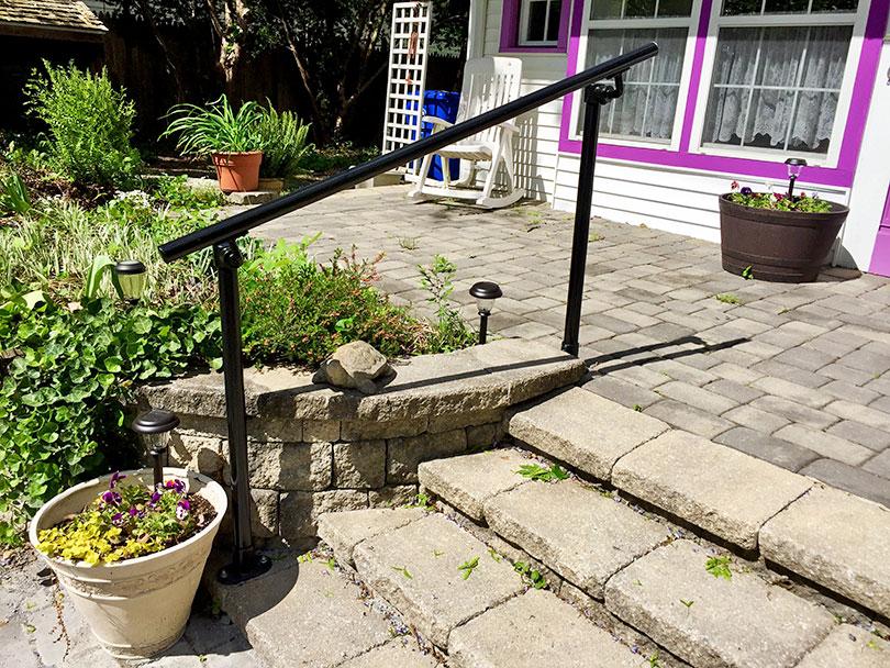 Stone Steps Handrail