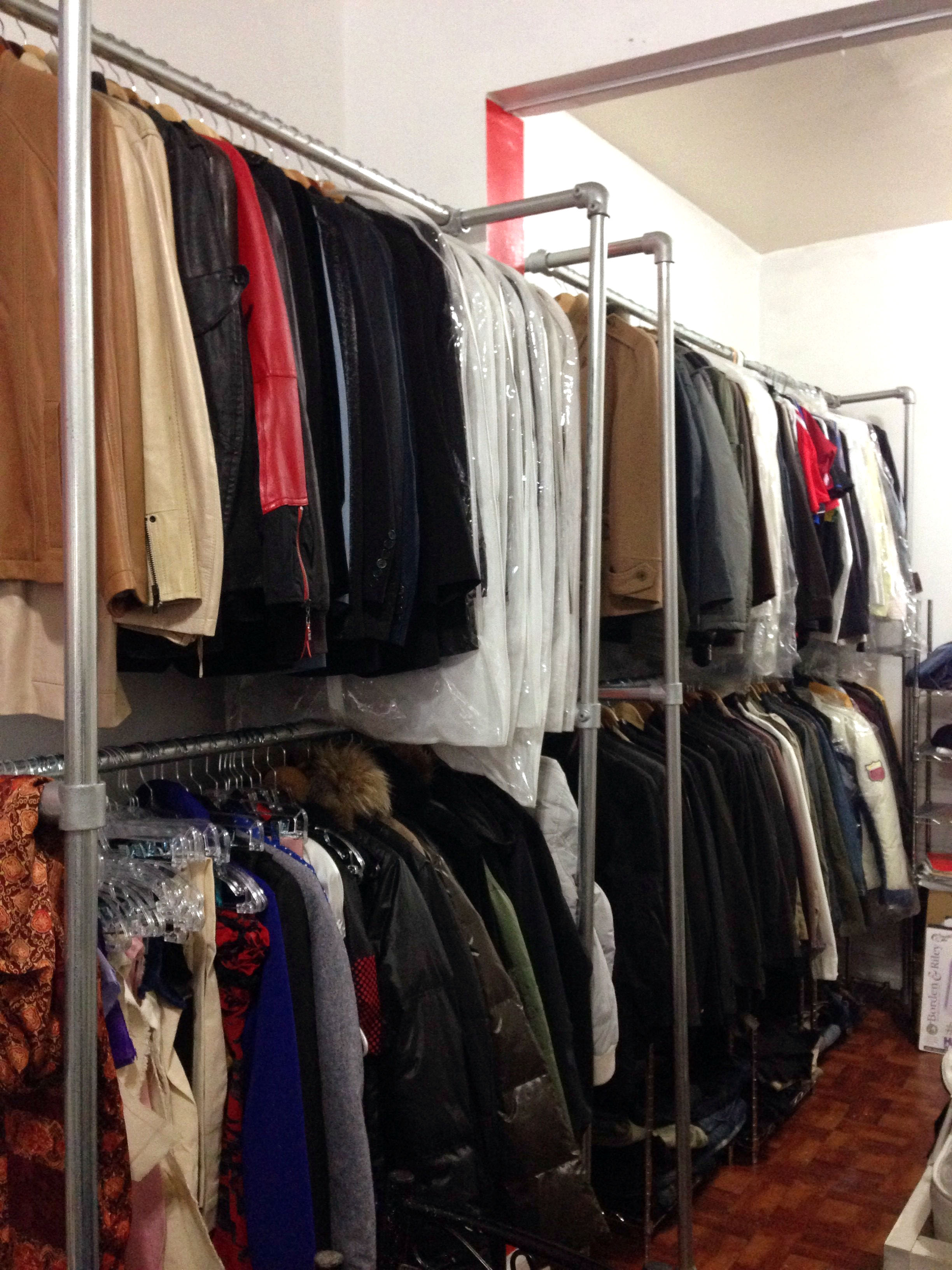 Used clothing store fixtures for sale