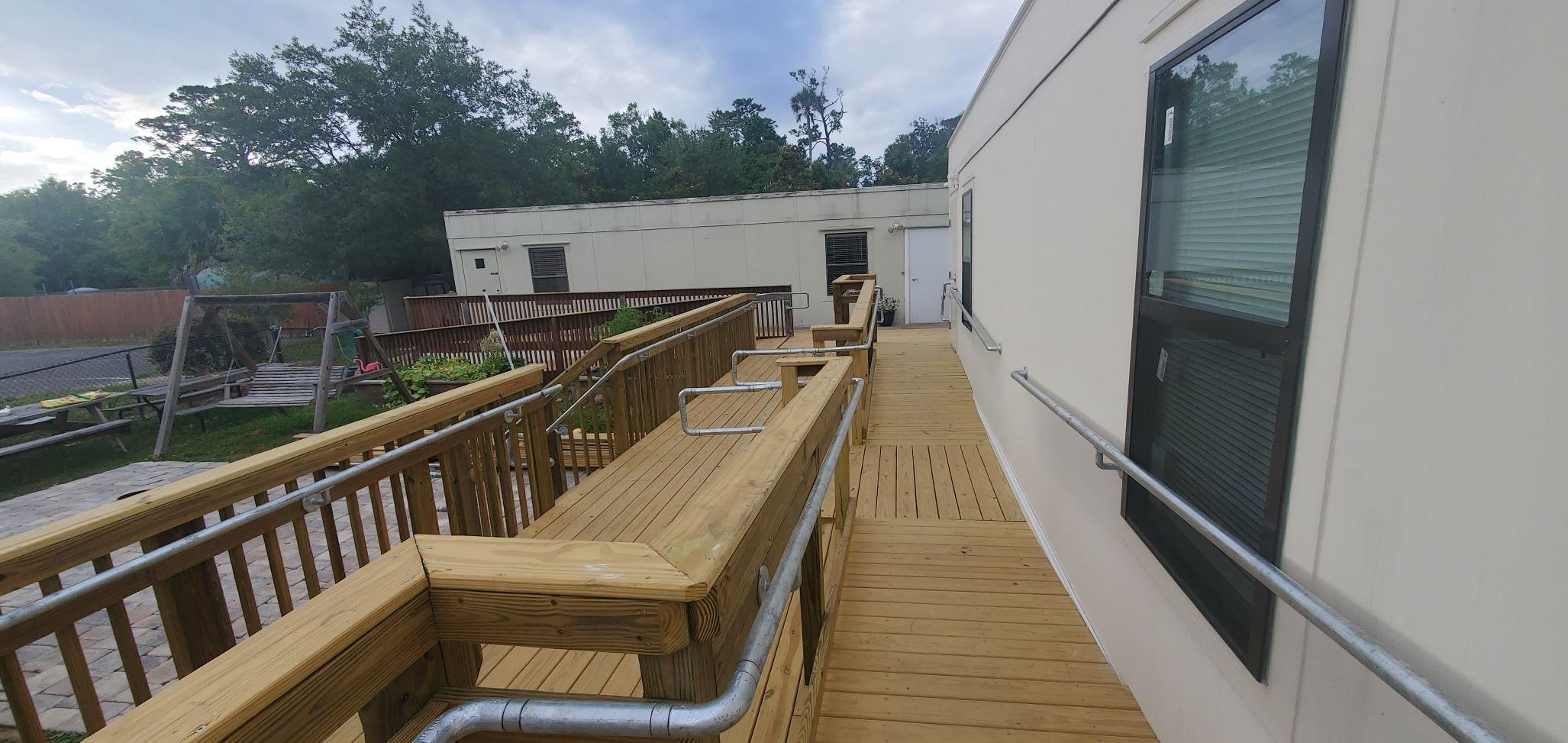 Retrofitted Wooden Guardrail ADA Compliant