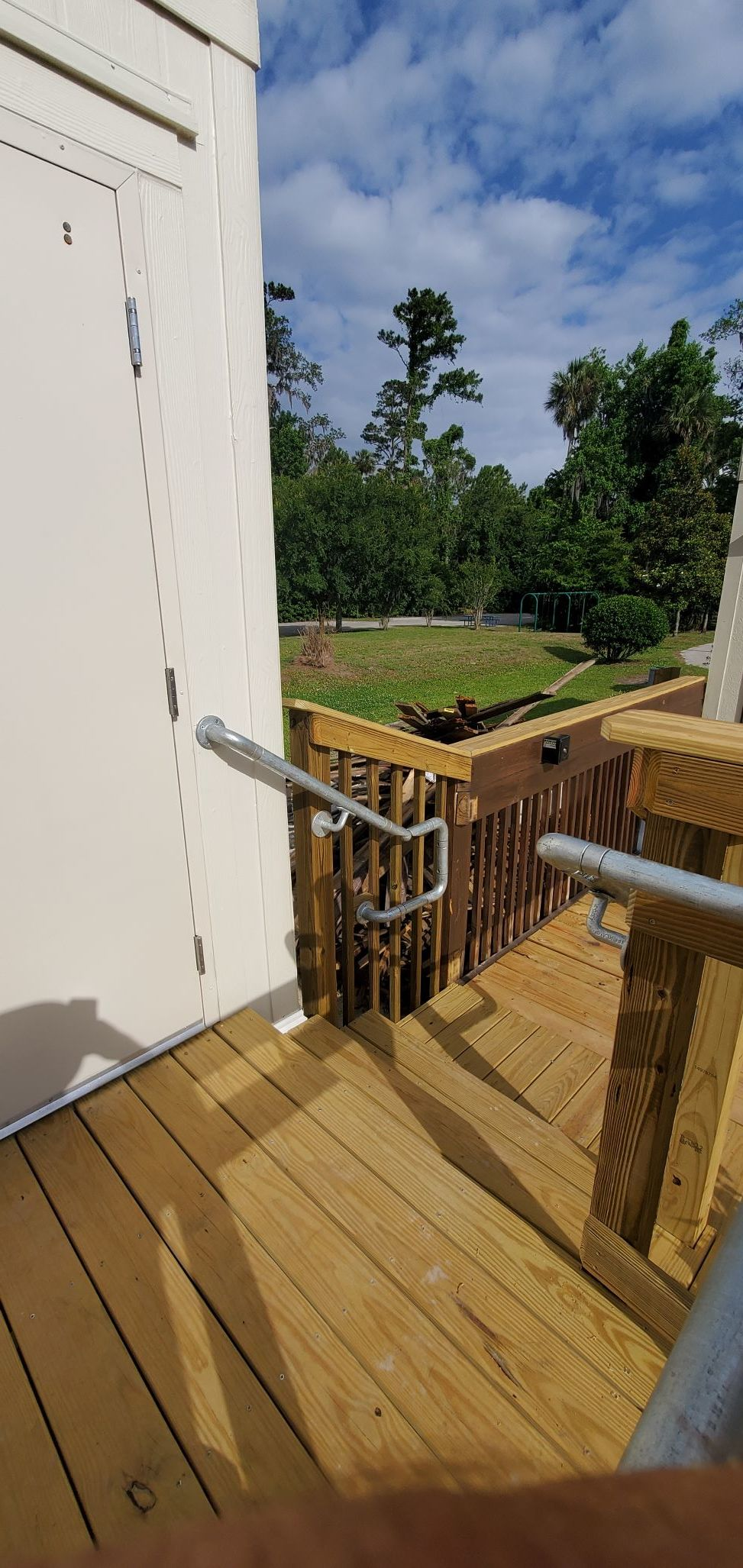 ADA Rail Attached to Wooden Rail
