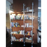 Wall & Base Mounted Pipe Shelf