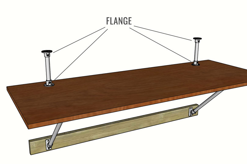 Wall Mounted Desk Plans