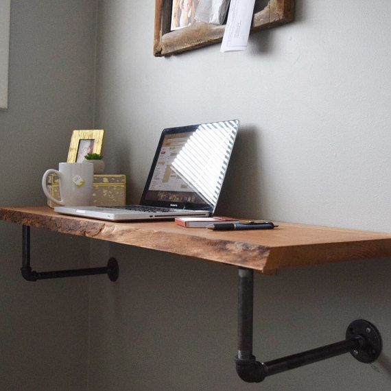 Amazing 49 Wall Mounted Desks Built With Pipe Simplified Building Beutiful Home Inspiration Ommitmahrainfo