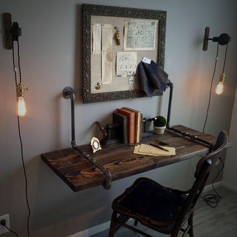 Wall Mounted Desk Idea