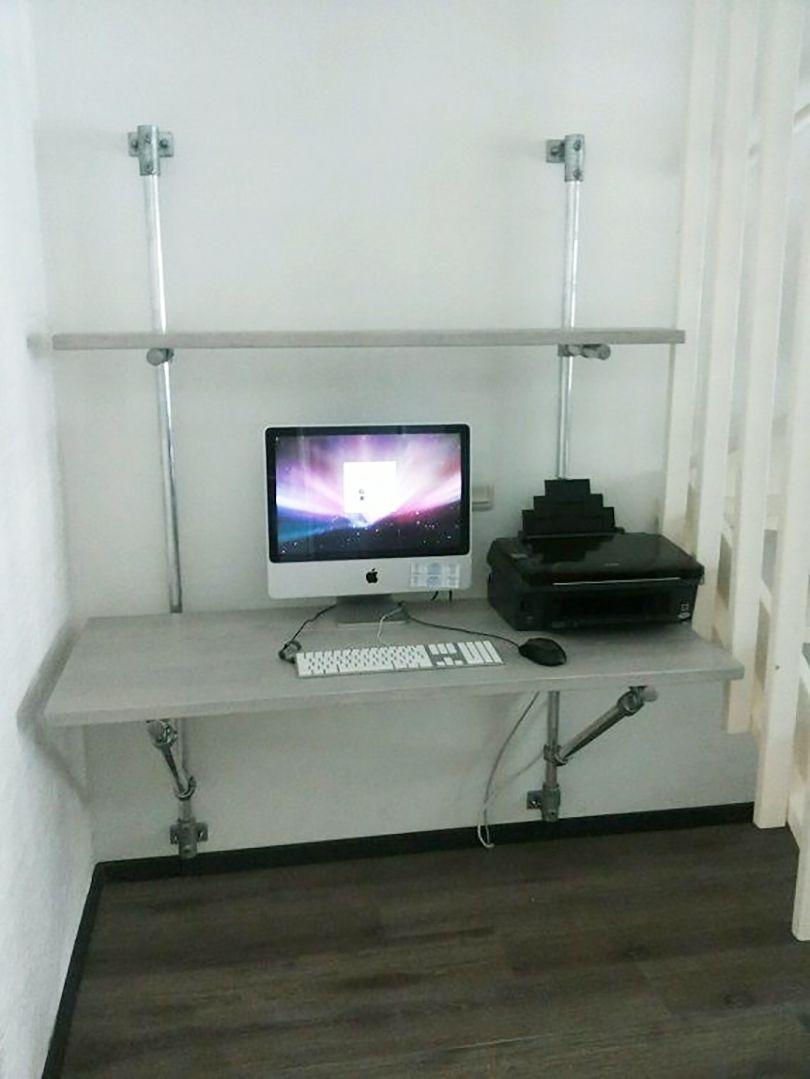 wall mounted desk kee klamp
