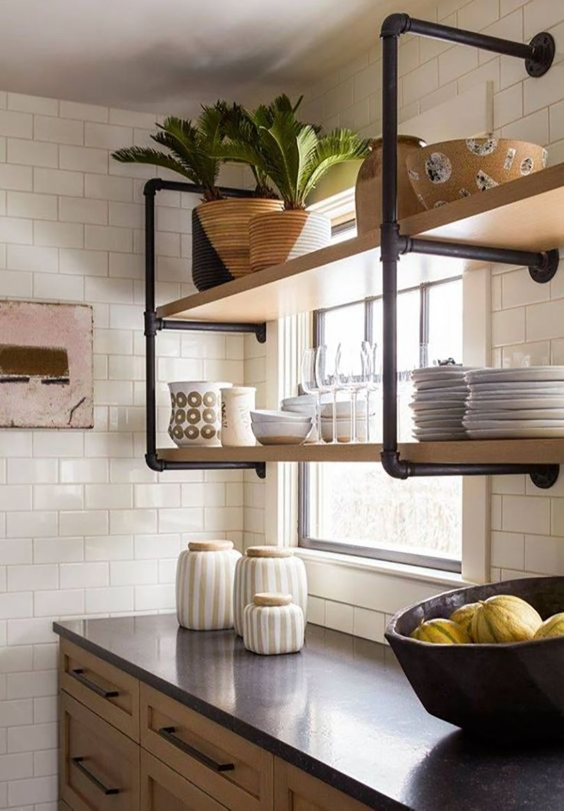 Open Concept Kitchen Shelves