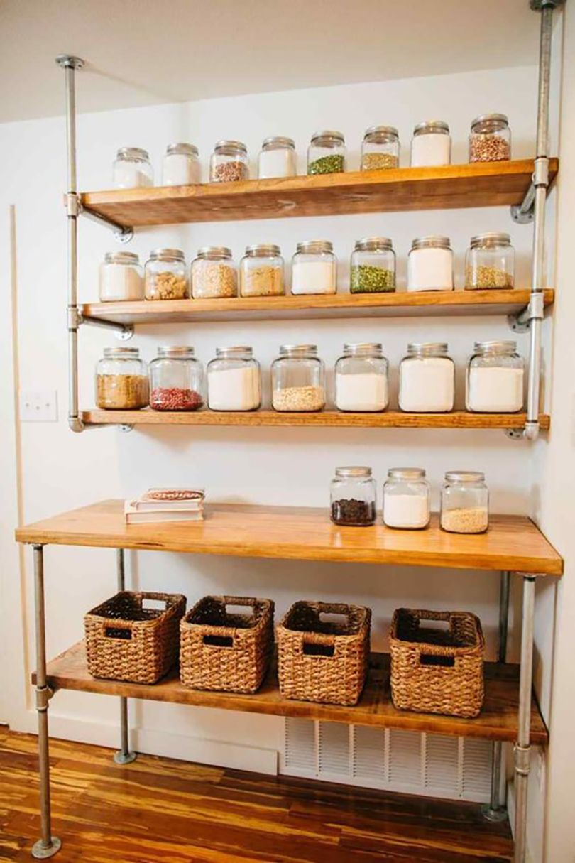 45 Diy Pantry Shelves Built With Pipe