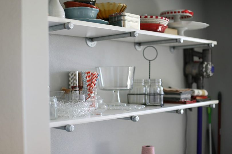 floating pantry shelving