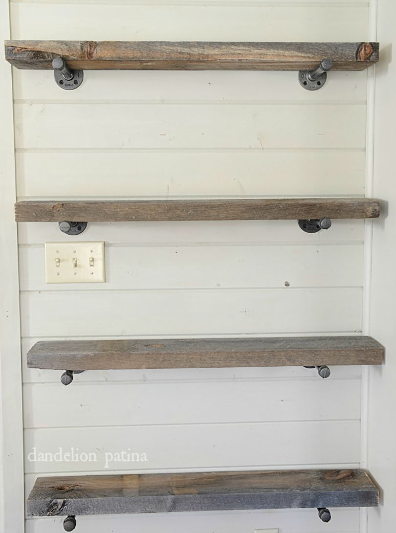 floated pantry shelving