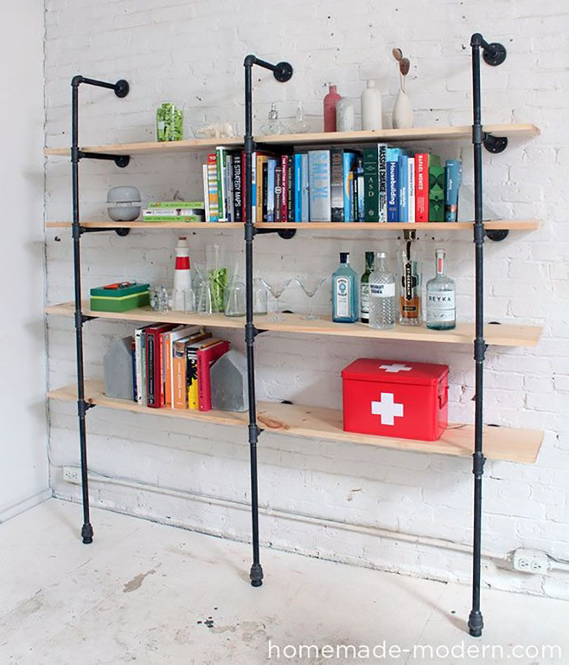 easy wall mounted pipe pantry