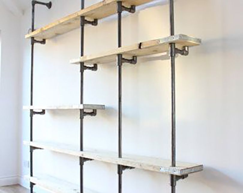 easy wall mounted pantry shelving