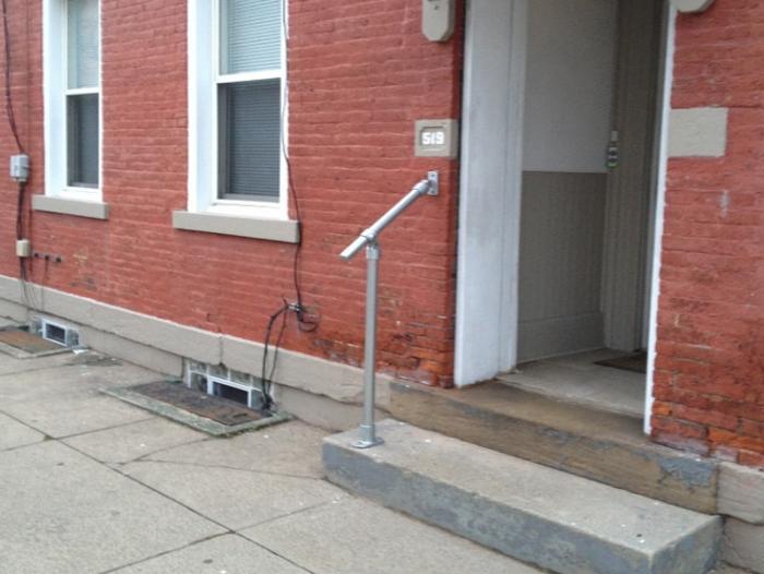 Attractive Garage Handrail