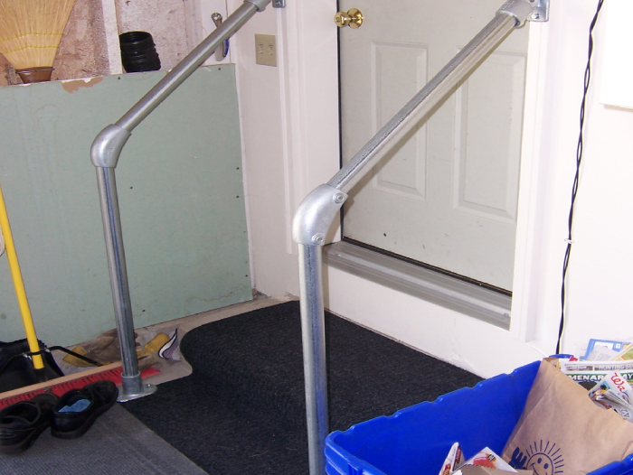 handrails for both sides of the steps