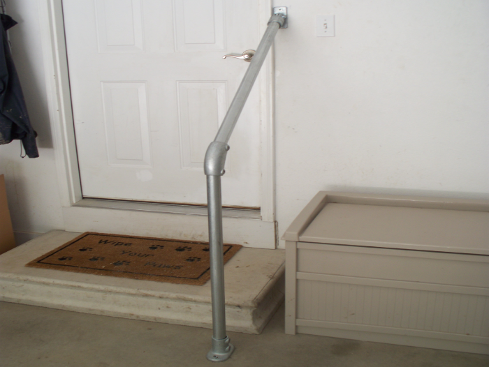Adjustable Garage Handrail