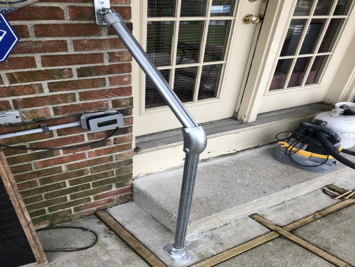outdoor handrail for ground and wall