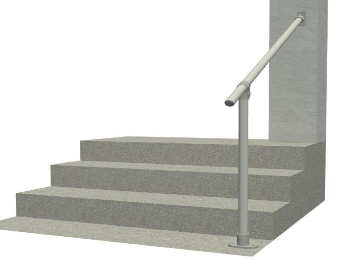 Classic Limited Hybrid Simple Rail Handrail Render 1