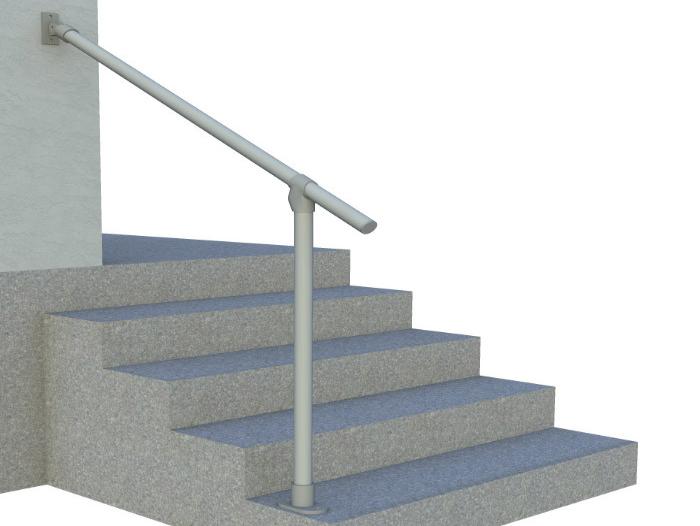 Classic Limited Hybrid Simple Rail Handrail Render 2