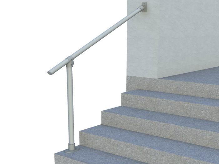 Classic Limited Hybrid Simple Rail Handrail Render 3