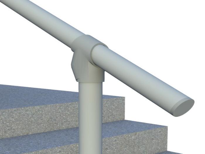 Classic Limited Hybrid Simple Rail Handrail Render 4