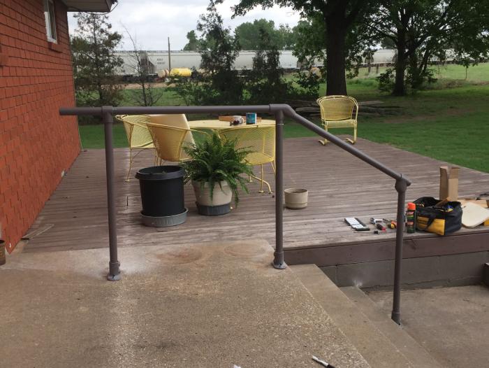 custom adjustable handrail kit for your garden