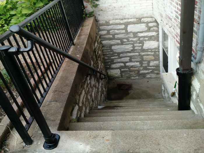 long-lasting black handrail
