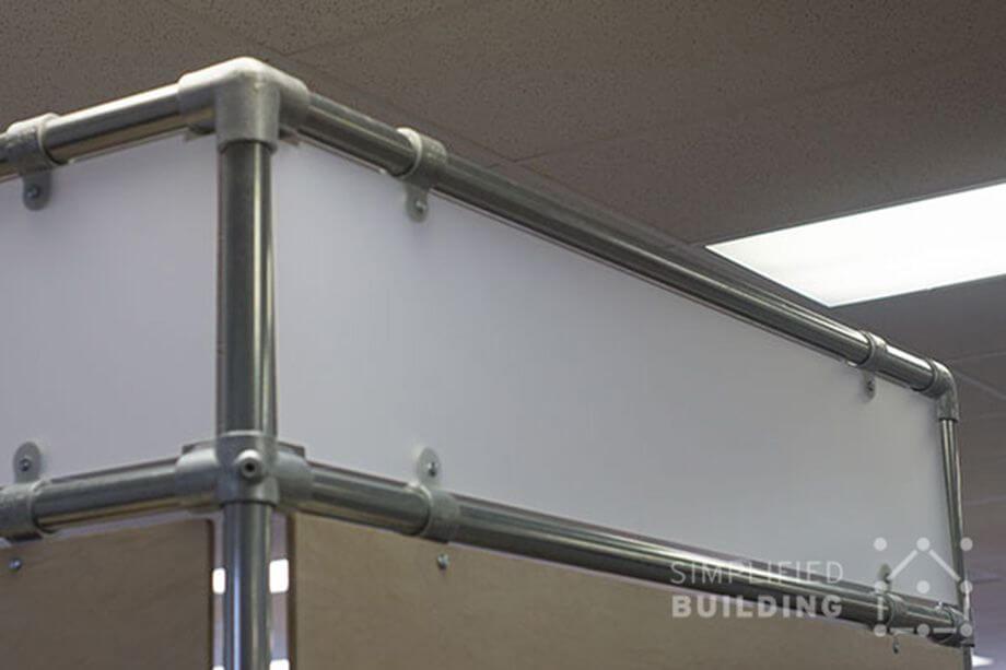 corner detail for office screens