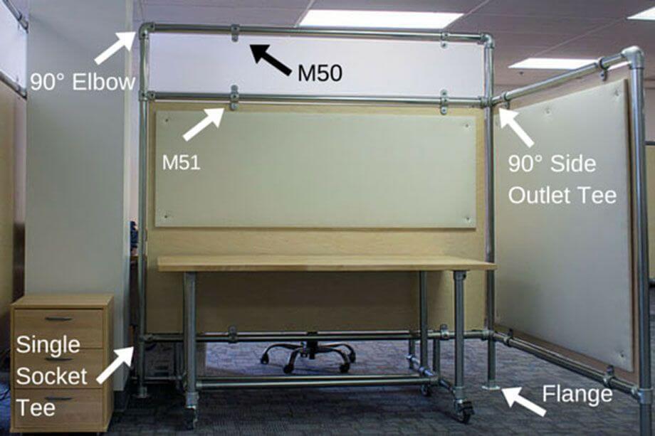 cubicle divider diagram