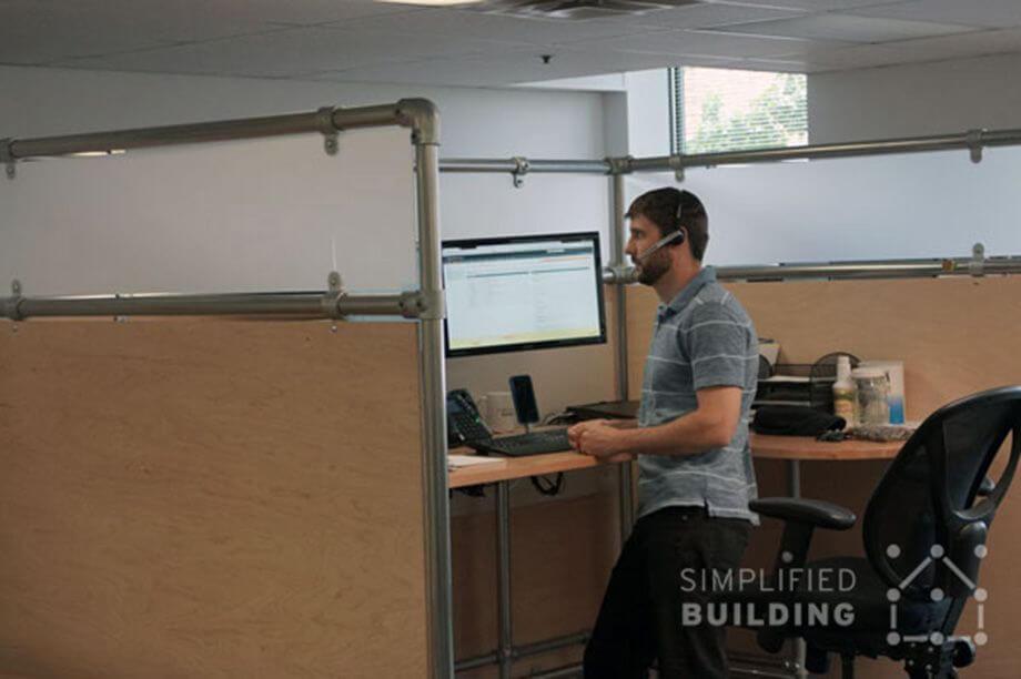 desk divider frame made of steel