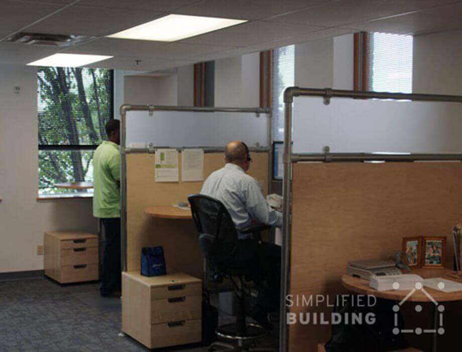 desk divider for open plan office